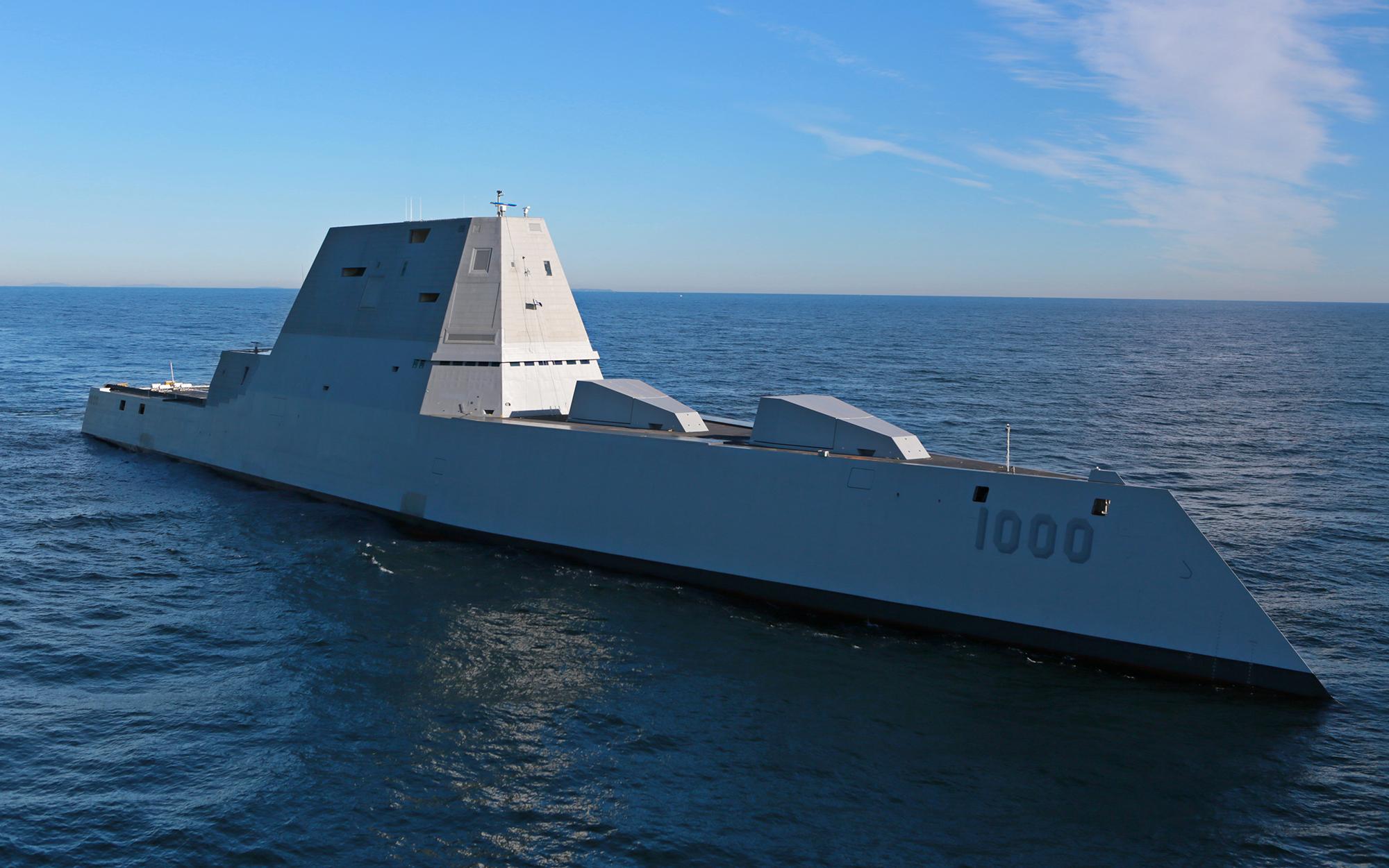 Future USS Zumwalt destroyer